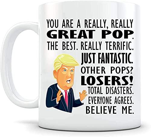 N\A Lustige Kaffeetasse Geschenk Trump Tasse Pops GrA-N-Dpa Geschenk für ihn von Tochter Geschenk Tasse von Son Gag Geschenke DoTangryld Trump MAGA Teetasse