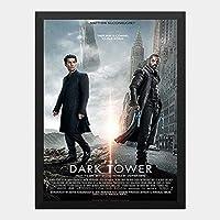 ハンギングペインティング - ダークタワー DARK TOWER 2のポスター 黒フォトフレーム、ファッション絵画、壁飾り、家族壁画装飾 サイズ:33x24cm(額縁を送る)