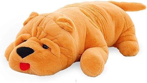 Envíos y devoluciones gratis. Peluches Juguete de Felpa Puppy Puppy Puppy Pillow Sleeping Doll Sofa Cushion Decoración de la habitación de los Niños Regaño (Color   amarillo, Talla   120cm)  ¡No dudes! ¡Compra ahora!