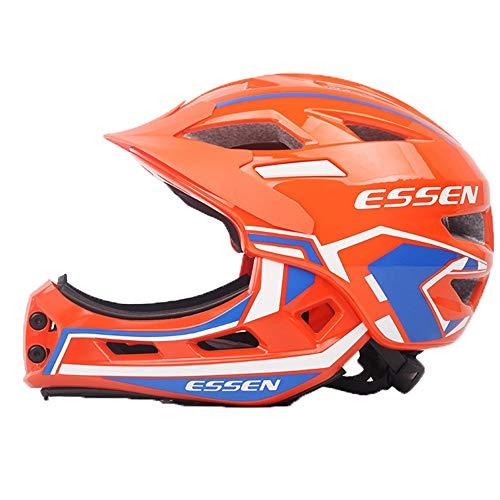 Rodillo Crash Childs de la cara llena bicicleta de equilibrio casco naranja...