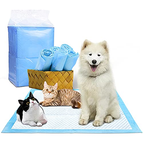 Bizcasa Empapadores de adiestramiento para Perros, Toallitas de Entrenamiento para Mascotas, Ultraabsorbente 60 * 60cm,Súper Absorbentes, Almohadillas de Entrenamiento Ecológicas para Perros Medianos