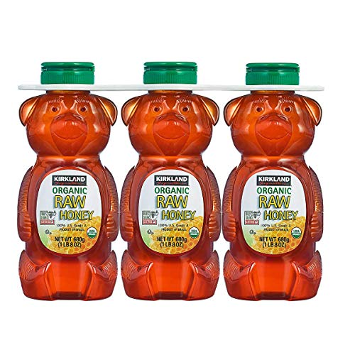 Kirkland Signature Raw Organic Honey Bear 24 oz 3count