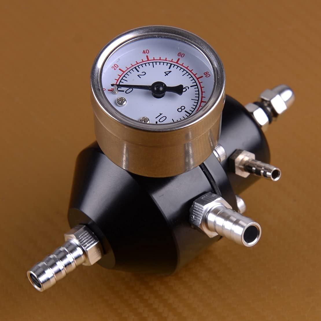 WFAANW Black Aluminum Tucson Mall Adjustable Pressure Fuel Universal Regulat Max 57% OFF