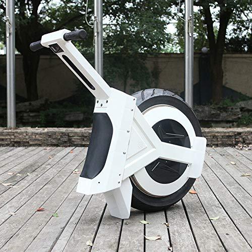 """GJZhuan 17\""""60V / 500W Balance Elektro-Einrad, Selbstausgleichender Elektroroller, Mit LED-Licht Bluetooth-Lautsprecher, Outdoor-Laufband Für Kinder Und Erwachsene(Size:90km,Color:Weiß)"""