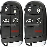 KeylessOption Keyless Entry Remote Car Smart Key Fob Starter for Dodge Dart Charger Challenger M3N-40821302 (Pack of 2)