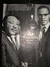 DR. MARTIN LUTHER KING JR AND MALCOLM X (PICTURE FROM MAGAZINE) HAS SMALL TEAR AT BOTTOM OF PICTURE
