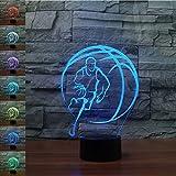 3D Basket Night Light Lamp 7 Cambiamento di Colore LED USB Touch Table Gift Kids Toys Decor Decorazioni di Natale Regalo di San Valentino Regalo di Compleanno