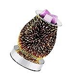 Lámpara de aromaterapia 3D, lámpara aromática sensible al tacto, quemadores eléctricos para derretir la cera, quemador de aceite y difusor de aceite para el dormitorio del hogar