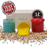 TESTSIEGER: Sehr Gut - Anti Stress Slime Geprüftes Schleim Set - 3 Stück Mit Zubehör - DIY Fluffy Slime Kit für Kinder - Angenehmer Geruch - Millenniex