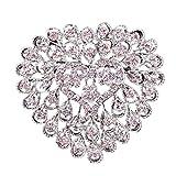 Générique Mode Broche Strass Cristal Mariage Fleur Broche Bouquet Robe Formelle...