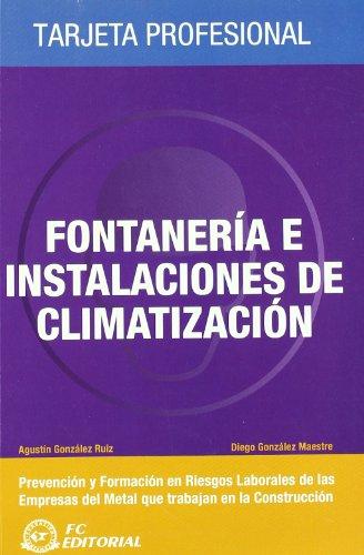 Fontanería e instalaciones de climatización: Tarjeta profesional Metal - Construcción