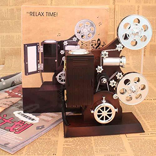 Apparence Vintage Projecteur de Film Vintage Boîte à Musique Bijoux Boîte à Musique Boîte à Musique Cadeau Utilisé pour Maquillage pour Le Bureau à Domicile