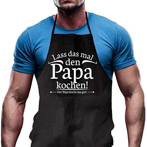 Shirtoo Kochschürze Lass das mal den Papa Kochen - Lustiges Geschenk für Väter und Hobbyköche zum Geburtstag oder zu Weihnachten