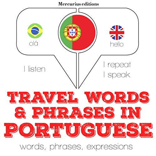 Travel words and phrases in Portuguese audiobook cover art