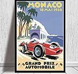 Wall Art Picture Poster 1958 bis 2006 Monaco Racing