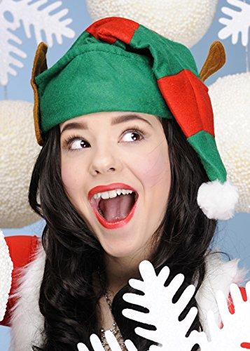 Noël Helper Elf rayé Bonnet avec oreilles
