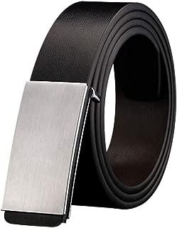 Men Belt Smooth Buckle Synthetic Leather Male Belt Able Men Belt For Jeans