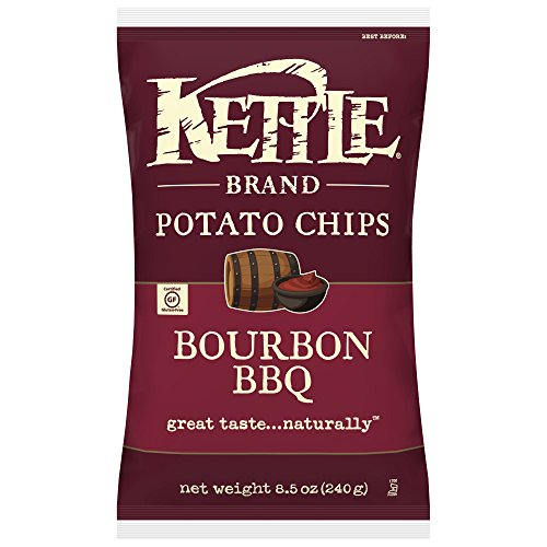 Kettle Brand Potato Chips, Bourbon BBQ, 8.5 Ounce (Pack of 12)
