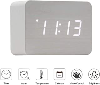 Jlyshop Wooden Alarm Clock
