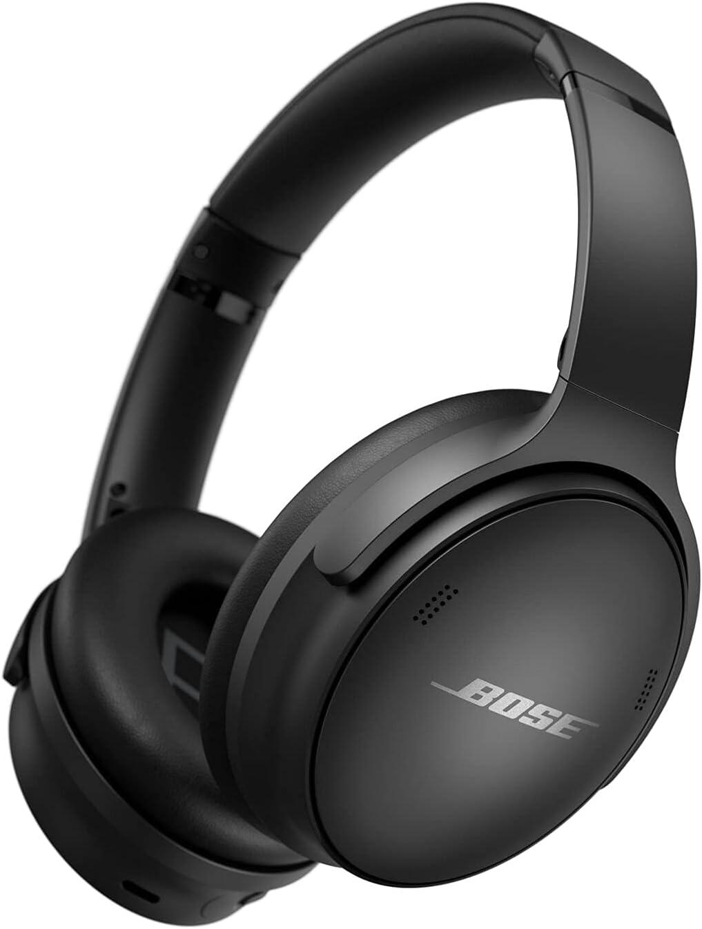 Bose QuietComfort 45 Bluetooth wireless Headphones con riduzione del rumore con microfono per chiamate, nero, Taglia unica