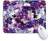 Kgblfd Alfombrilla de ratón Decorativa para Juegos,Pensamiento Colorido Violeta Violeta Flor,Alfombr...