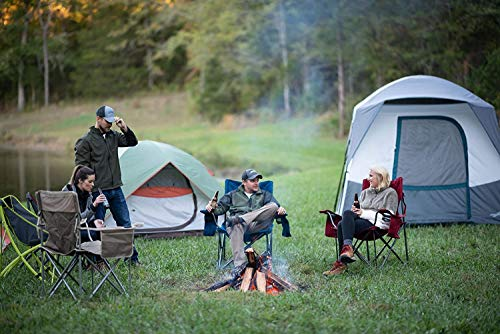 ALPS Mountaineering Camp Creek 6-Person Tent, Charcoal/Blue
