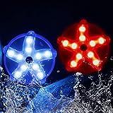 Cootway Luces LED Flotantes Magnética, Luz Piscina Impermeables, Luces Multicolore Lámpara de Estrella de Mar Luz Ambiental para Pecera Floral Estanque Jardín Fiesta Navidad Bodas Fiesta Decoración