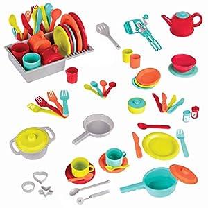 battat - deluxe kitchen - pretend play accessory toy set (71 pieces including pots & pans) - 51YEcCJk0pL - Battat – Deluxe Kitchen – Pretend Play Accessory Toy Set (71 Pieces Including Pots & Pans)