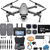 DJI Mavic 2 PRO Drone Quadcopter with Smart Controller, 2 Batteries, with ND, CPL lens Filters, 128GB SD Card, Hard Case, with Hasselblad Video Camera Gimbal Bundle Kit with Must Have Accessories