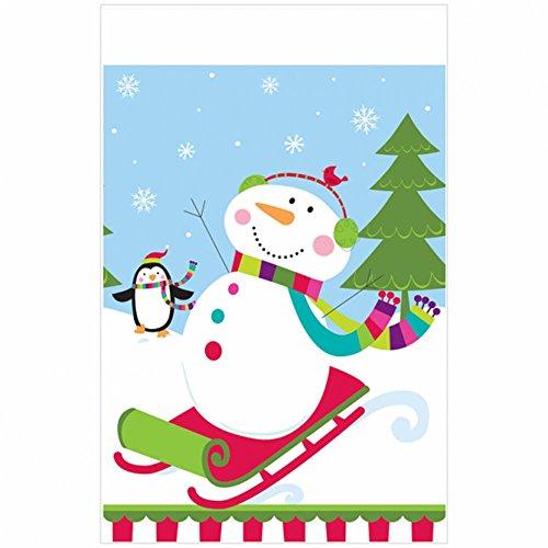 Kunststof tafelkleed 'Joyful Snowman'