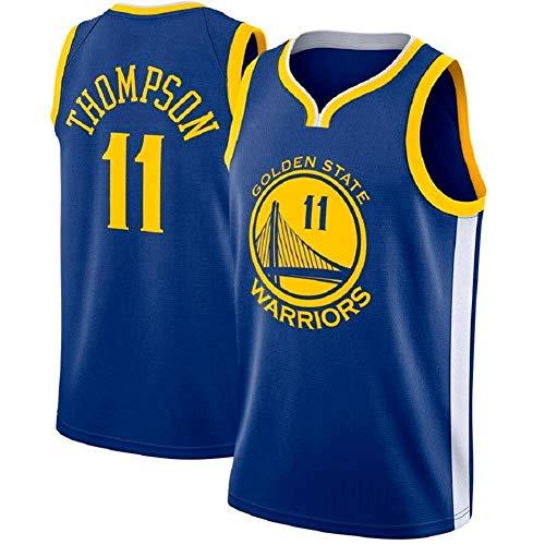 XXMM Camiseta para Hombre - NBA Golden State Warriors # 11 Klay Thompson Camiseta De Baloncesto - Malla Transpirable Sin Mangas Camiseta Deportiva De Entrenamiento De Secado Rápido,M(170~175CM)