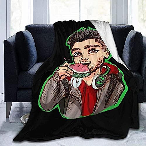 KINGAM Zayn-Malik Manta de franela de forro polar para todas las estaciones, cómoda colcha para sofá, cama, oficina