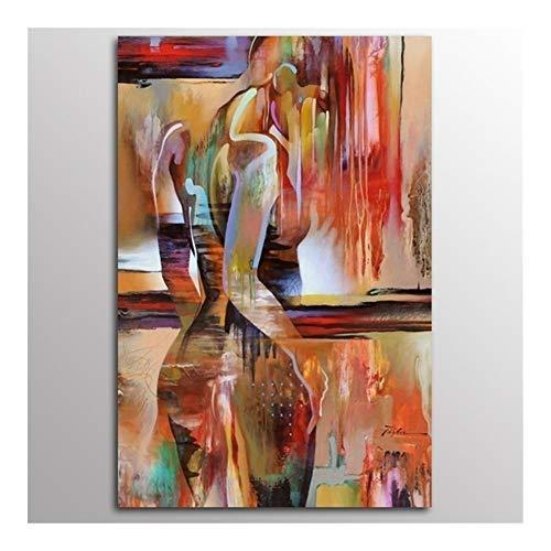 JYSLI Sexo señora Decoración del hogar nórdicos Lienzo Pintura del Arte de la Acuarela Abstracta Figura Muchacha de la impresión del Cartel Minimalista Dormitorio Pintura Mayor