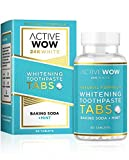 Toothpaste Tablets with Baking Soda and Mint Natural Teeth Whitening - 60 Count