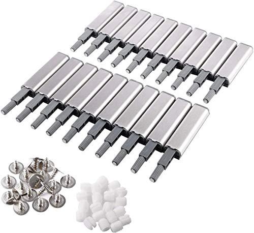 Evergd 10 Stück Push to Open System Soft Close Dämpfer Puffer Schränke Tür Schubladen Scharniere Magnetverschlüsse für Home Möbel Schrank