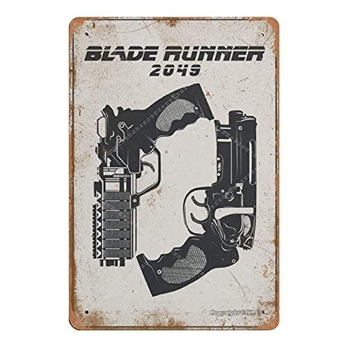 XREE Blade Runner 2049 Cartel de lata para decoración de pared, placa de metal retro para habitación moderna, estilo vintage, decoración rústica para el hogar, 20 x 30 cm