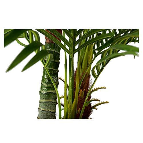Arnusa Große Künstliche Palme Deluxe 180cm mit 3 Stämmen und 26 Palmenwedel Kunstpflanze Kunstpalme Zimmerpflanze - 5