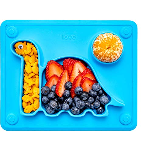 Lilly's Love Suction Plates for Babies - The Happy Good Dino Pad – Toddler Plates goes from...