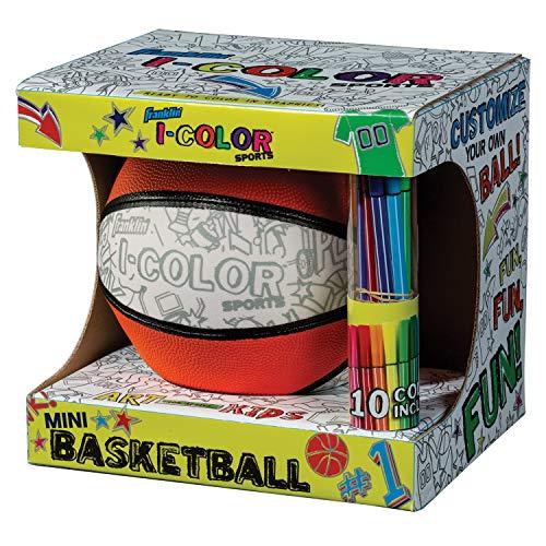 Franklin Sports - Pallone da calcio, basket, pallone da calcio, Franklin Sports  I-Color Basketball