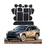 CDEFG para Toyota RAV4 MK5 2019 Coche Accesorios Antideslizante Copa Mats Anti Slip Puerta Ranura de Acceso Kit de la Estera del cojín de la Ranura decoración de Interiores (Negro)