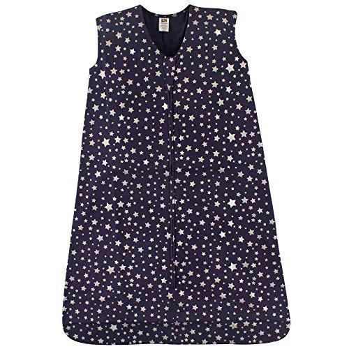 Hudson Baby Unisex Baby Cotton Sleeveless Wearable Sleeping Bag, Star, 12-18 Months US