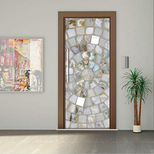 Deursticker 3D Originaliteit deursticker Al pasta papier decoratie slaapkamer één woonkamer muursticker muurkleur geplastificeerde straat