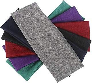 DIYASY 6 Pcs Yoga Stretch Headbands, Soft Elastic Cotton Sweatband Yoga Sports Stretchy Headband for Women 6 Colors