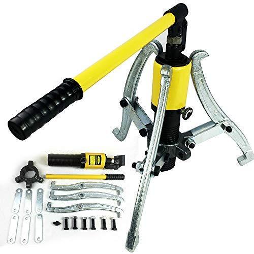 HaroldDol Hydraulik Abzieher 15T Hydraulisch Radnabenabzieher Ausdrücker Set Lagerabzieher Puller Garagen Werkzeugsatz Kit