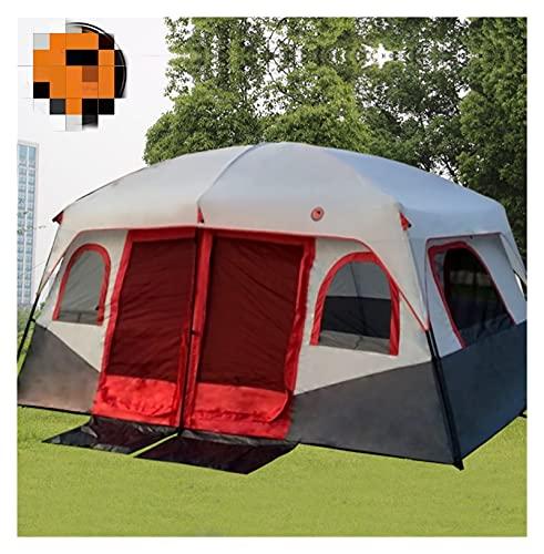 TAIYUANNT Tienda Ultralarge de Dos dormitorios 8-10 Persona Impermeable campaña campaña Grande Gazebo barraca tente de Acampar Tienda