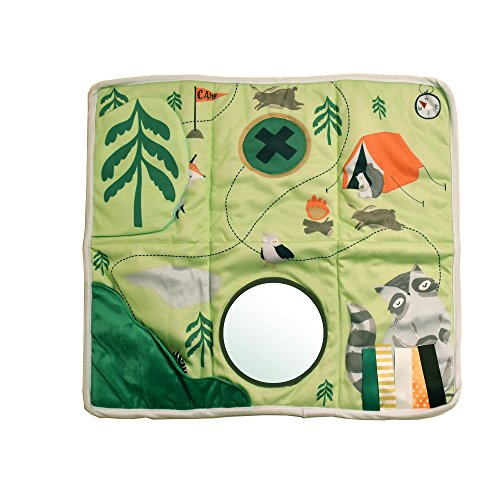Manhattan Toy Tapis de Jeu d'activité sensorielle Acorn de Camp avec Jouet de Dentition attaché