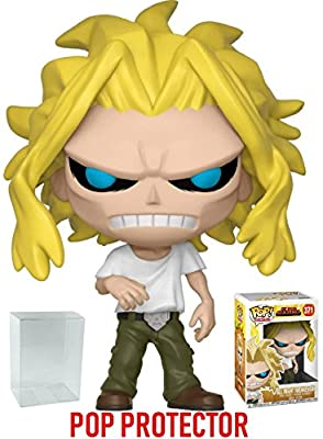 Funko Pop! Anime: My Hero Academia - All Might (Weakened) Vinyl Figure (Includes Compatible Pop Box Protector Case) from Funko