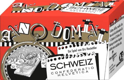 ABACUSSPIELE 09984 - Anno Domini - Schweiz, Quizspiel, Schätzspiel, Kartenspiel