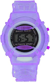 RONSHIN Gifts for Children Student LCD Digital Watch Year Month Date 24 Hour Display Sports Wristwatch Boy Girl Gift Purple