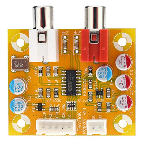TOOGOO Dac Sabre Es9023 Analoge I2S 24 Bit 192 kHz Decoder Karte für Raspberry Pi